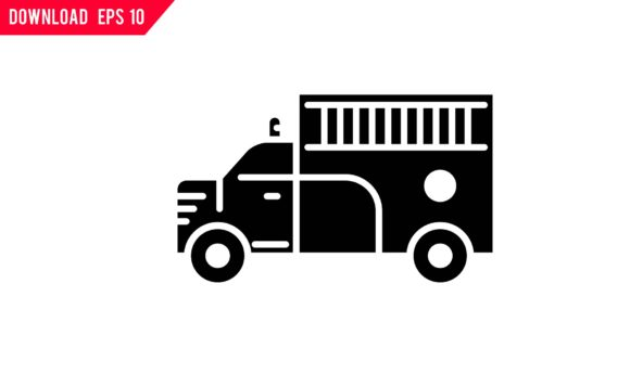 Download Free Fire Truck Icon Graphic By Back1design1 Creative Fabrica for Cricut Explore, Silhouette and other cutting machines.