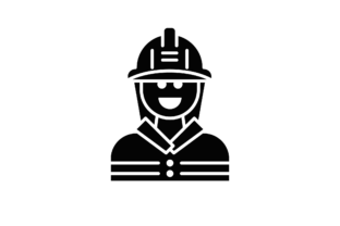 Download Free Fireman Icon Graphic By Back1design1 Creative Fabrica for Cricut Explore, Silhouette and other cutting machines.
