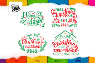 Download Free First Christmas Married Bundle Graphic By Illustrator Guru for Cricut Explore, Silhouette and other cutting machines.