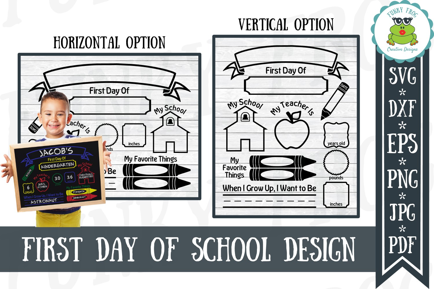 Download Free First Day Of School Graphic By Funkyfrogcreativedesigns for Cricut Explore, Silhouette and other cutting machines.