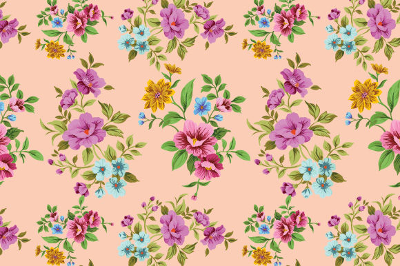 Print on Demand: Floral Pattern. Background Graphic Patterns By iop_micro