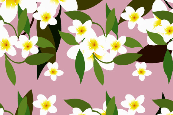 Print on Demand: Floral Pattern Background Graphic Backgrounds By iop_micro