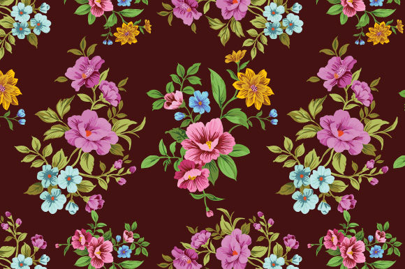 Print on Demand: Floral Pattern Background Graphic Patterns By iop_micro