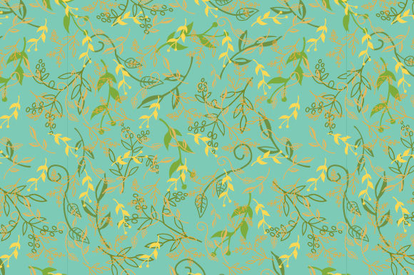 Print on Demand: Floral Pattern Doodle Graphic Patterns By iop_micro
