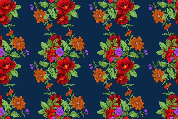 Print on Demand: Floral Pattern in Vintage Graphic Patterns By iop_micro