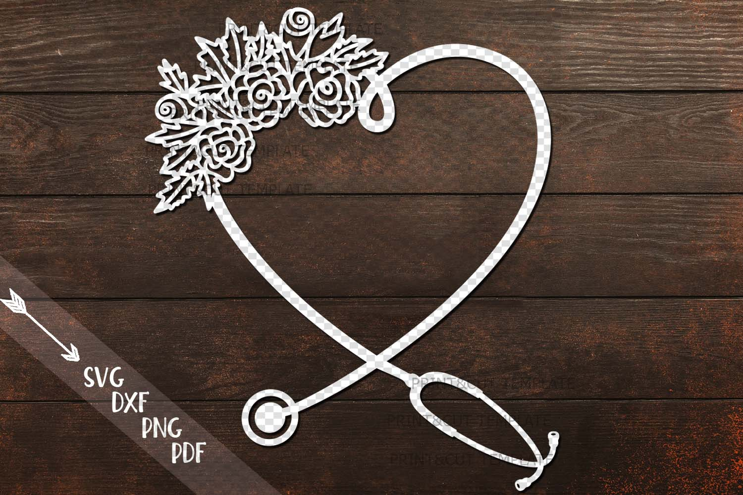 Floral Stethoscope Svg Graphic By Cornelia 183 Creative