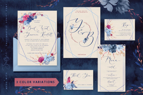 Print on Demand: Floral Wedding Graphics & Script Graphic Objects By Iradvilyuk - Image 3