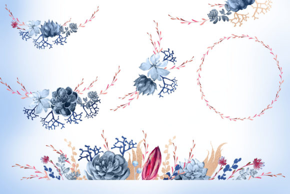 Print on Demand: Floral Wedding Graphics & Script Graphic Objects By Iradvilyuk - Image 30