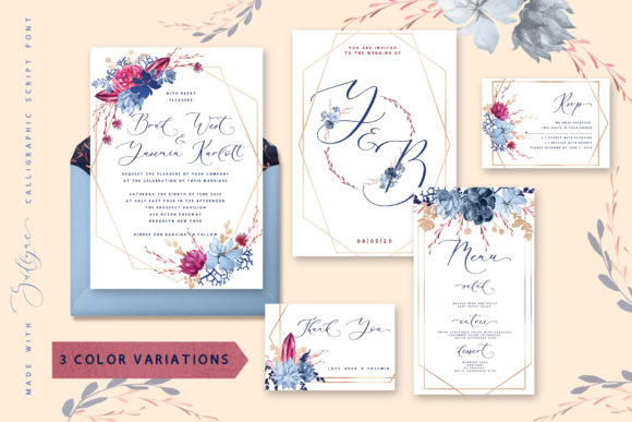 Print on Demand: Floral Wedding Graphics & Script Graphic Objects By Iradvilyuk - Image 4
