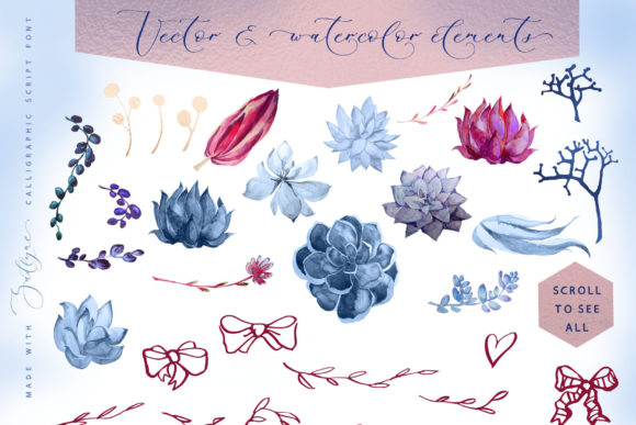 Print on Demand: Floral Wedding Graphics & Script Graphic Objects By Iradvilyuk - Image 31