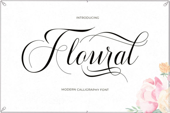 Print on Demand: Floural Script Script & Handwritten Font By typehill