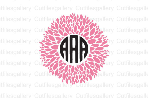 Download Free Flower Dahlia Monogram Svg Graphic By Cutfilesgallery Creative for Cricut Explore, Silhouette and other cutting machines.