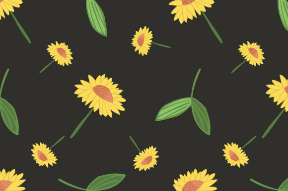 Print on Demand: Flowers Seamless Pattern Background Graphic Patterns By iop_micro