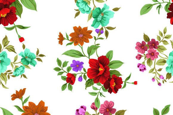 Print on Demand: Flowers Seamless Pattern Graphic Patterns By iop_micro