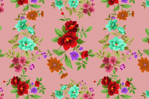 Print on Demand: Flowers Seamless Pattern with Ladybug Graphic Patterns By iop_micro