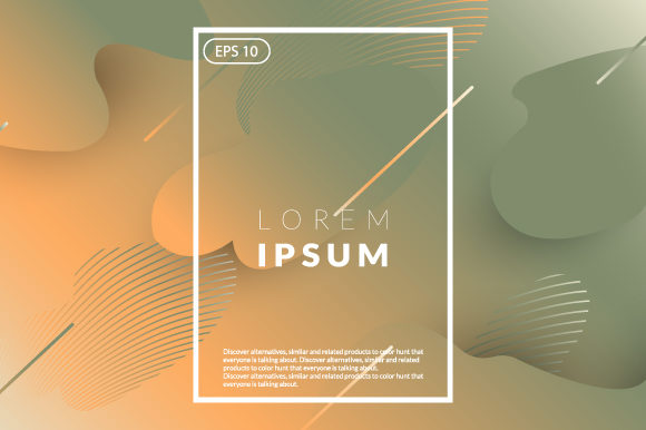 Download Free Fluid Geometric Autumn Color Graphic By Iop Micro Creative Fabrica for Cricut Explore, Silhouette and other cutting machines.