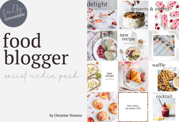 Print on Demand: Food Blogger - Social Media Pack Graphic Web Templates By Christine Teixeira