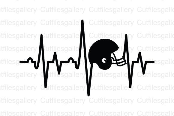 Download Free Football Helmet Heartbeat Svg Graphic By Cutfilesgallery Creative Fabrica for Cricut Explore, Silhouette and other cutting machines.