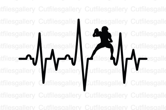 Download Free Football Player Heartbeat Svg Graphic By Cutfilesgallery for Cricut Explore, Silhouette and other cutting machines.