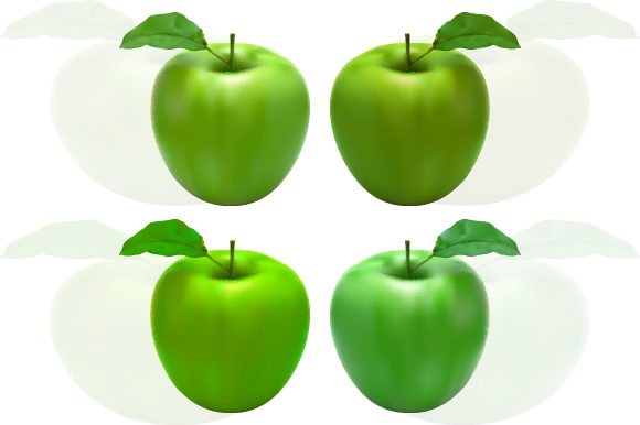 Download Free Fresh Green Apple With Leaf Graphic By Mrbrahmana Creative Fabrica for Cricut Explore, Silhouette and other cutting machines.