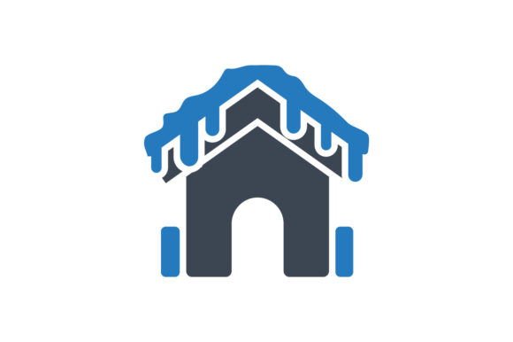 Download Free Frozen House Icon Graphic By Rudezstudio Creative Fabrica for Cricut Explore, Silhouette and other cutting machines.