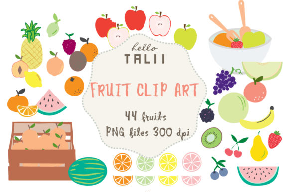 Fruit Clipart Graphic Illustrations By Hello Talii
