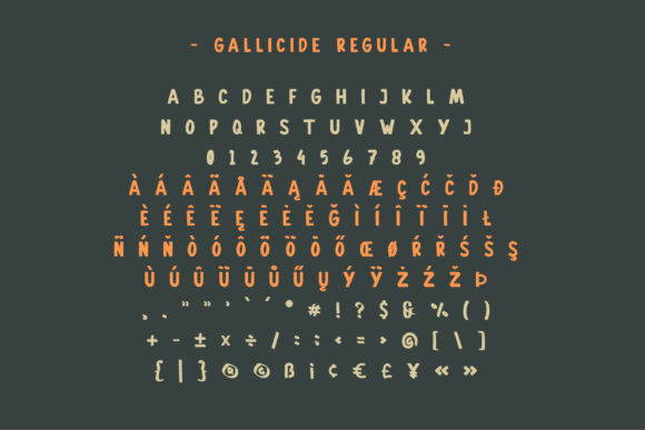 Print on Demand: Gallicide Display Font By MuSan - Image 2