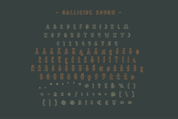 Print on Demand: Gallicide Display Font By MuSan - Image 4