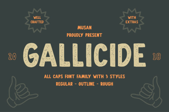 Print on Demand: Gallicide Display Font By MuSan - Image 1