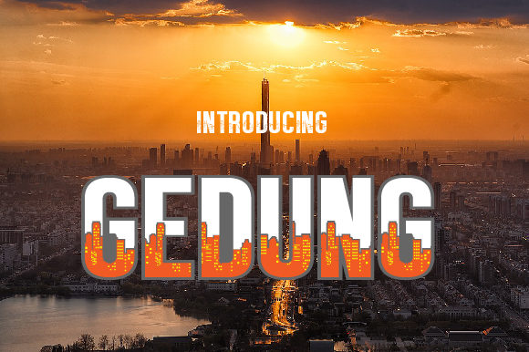 Print on Demand: Gedung Display Font By da_only_aan