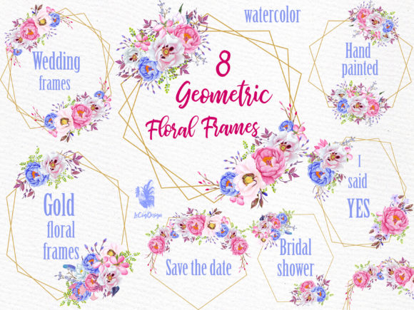 Geometric Frames Clipart Graphic Illustrations By LeCoqDesign