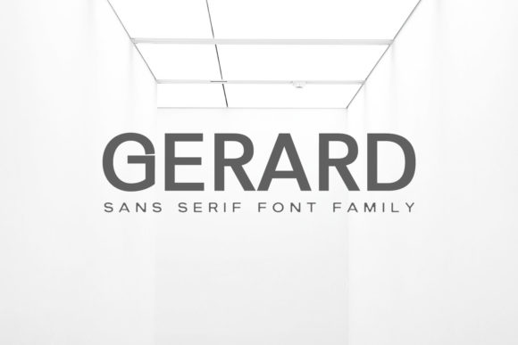 Print on Demand: Gerard Family Sans Serif Font By Creative Tacos