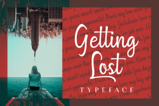 Getting Lost Font By Situjuh