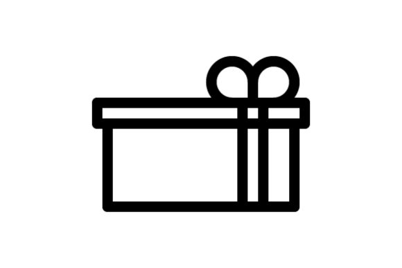 Download Free Gift Outline Icon Graphic By Muhazdinata Creative Fabrica for Cricut Explore, Silhouette and other cutting machines.