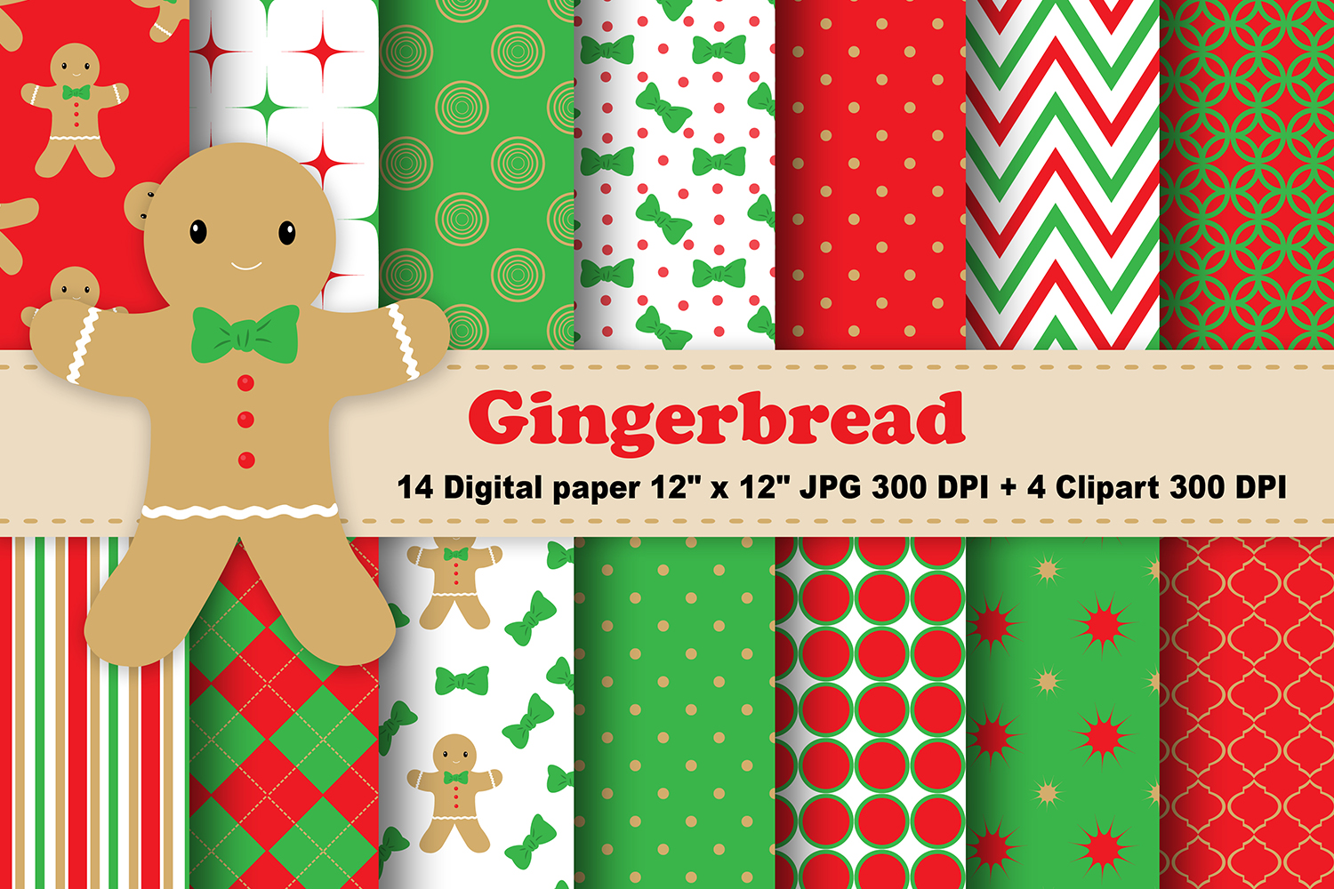 Download Free Gingerbread Digital Paper Graphic By Cosmosfineart Creative for Cricut Explore, Silhouette and other cutting machines.