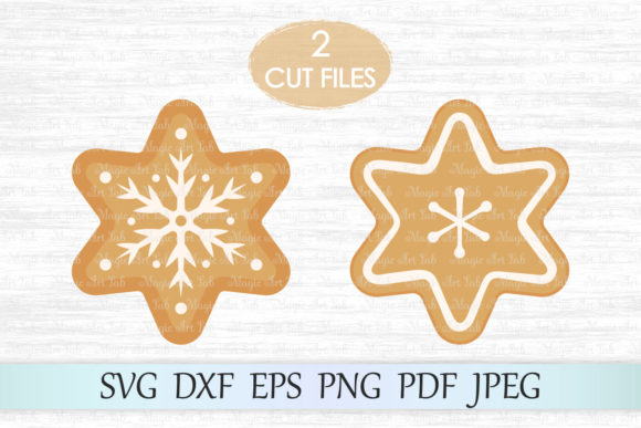 Download Free Gingerbread Cookies Graphic By Magicartlab Creative Fabrica for Cricut Explore, Silhouette and other cutting machines.