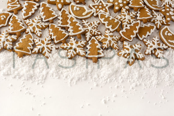 Gingerbread on the White Background Graphic By TasiPas