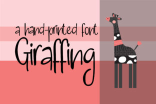 Giraffing Script & Handwritten Font By Illustration Ink