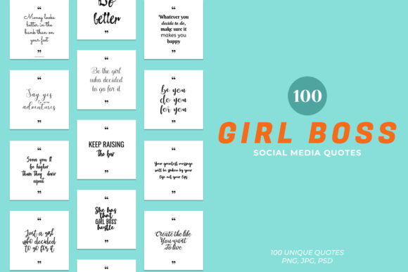 Print on Demand: Girl Boss Social Media Quotes Graphic Websites By Creative Tacos