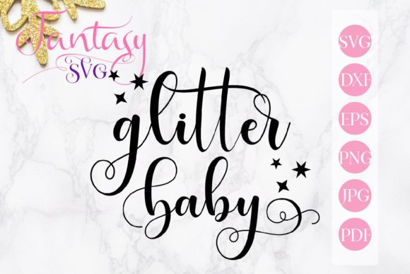 Print on Demand: Glitter Baby Svg Graphic Crafts By Fantasy SVG