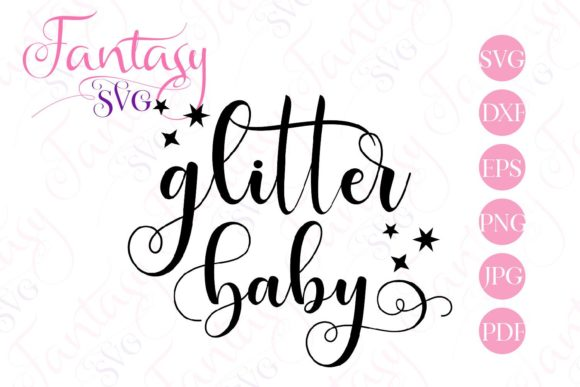 Print on Demand: Glitter Baby Graphic Crafts By Fantasy SVG - Image 2