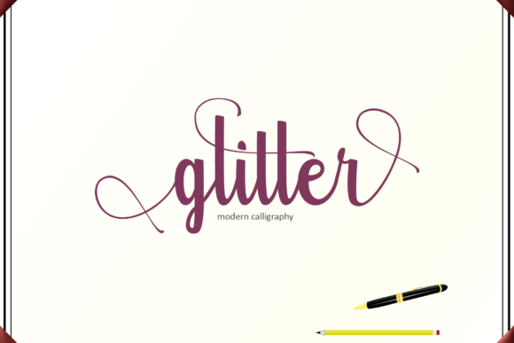 Print on Demand: Glitter Script & Handwritten Font By Rt Creative - Image 1
