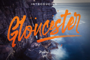 Gloucester Script Font By MysticalType