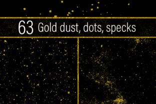 Gold Dust, Dots and Specks Graphic By JulieCampbellDesigns