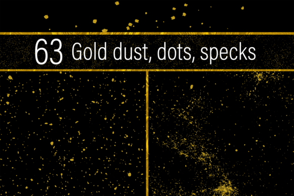 Print on Demand: Gold Dust, Dots and Specks Graphic Textures By JulieCampbellDesigns - Image 1