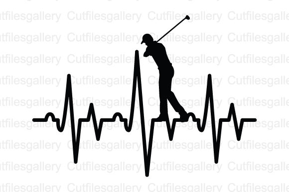 Download Free Golf Player Heartbeat Svg Graphic By Cutfilesgallery Creative for Cricut Explore, Silhouette and other cutting machines.