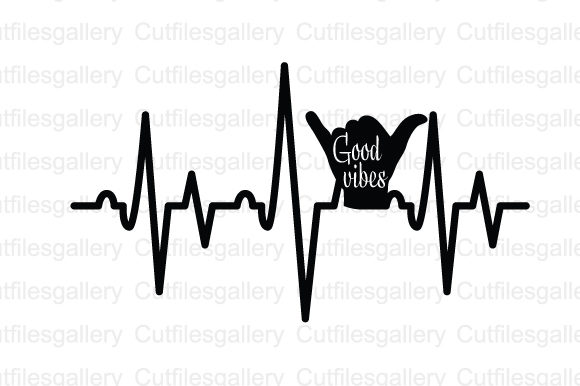 Download Free Good Vibes Heartbeat Svg Graphic By Cutfilesgallery Creative for Cricut Explore, Silhouette and other cutting machines.