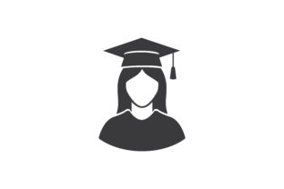 Download Free Graduate Icon Graphic By Zafreeloicon Creative Fabrica for Cricut Explore, Silhouette and other cutting machines.