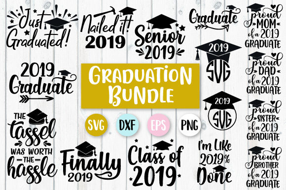 7d735f09 Graduation Bundle SVG Graphic by Craft Pixel Perfect - Creative Fabrica