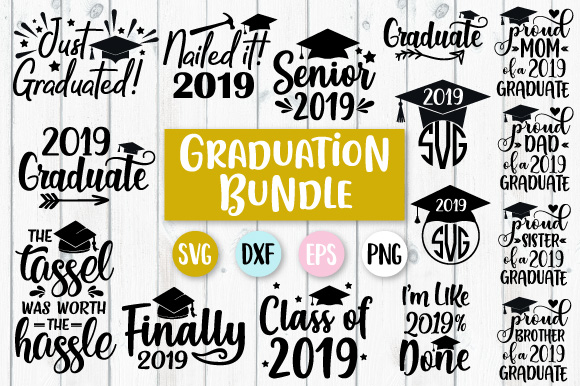 Download Free Graduation Bundle Graphic By Craft Pixel Perfect Creative Fabrica for Cricut Explore, Silhouette and other cutting machines.